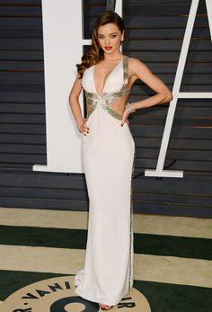 Miranda Kerr in Emilio Pucci gown at 2015 Vanity Fair Oscar Party