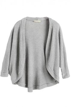 Grey Drape Front Open Cardigan GIRLS (7-16)