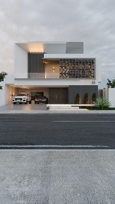 Modern Exterior House Designs, Modern Villa Design, Unique House Design, House Front Design, House Paint Exterior, Modern Architecture House, Exterior Design, Architect Design House, Bungalow House Design