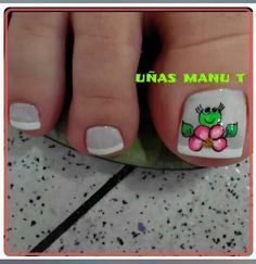 Uñas de pies Pedicure Designs, Toe Nail Designs, French Pedicure, Manicure And Pedicure, Sexy Nails, Toe Nails, Animal Nail Designs, Toe Polish, Painted Toes