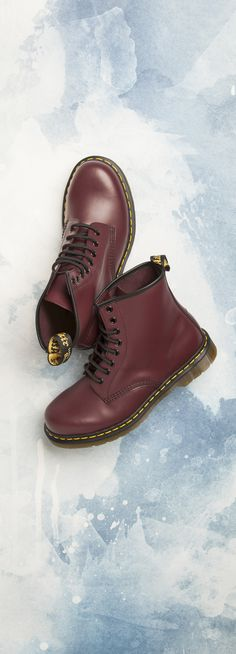 burgundy 1460 8 eye boot, part of the womens dr martens boots range at schuh. Dr Martens 1460, Dr. Martens, Combat Boots, Ankle Boots, Burgundy Boots, Me Too Shoes, Leather, How To Wear, Women