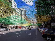 Rua Enfeitada para a Copa - Copa do mundo - Futebol - Mundial - World Cup - Enfeite - Copa - Flamengo - Rio de Janeiro - Brasil - Brazil