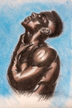 After a photo reference, mixed media. Charcoal, colour pencil on paper. . . . . . . . #mixedmedia #maleportrait #malebeauty #malemodel #photoreference #drawing #blackguys #maletorso #charcoal #colourpencil #figuredrawing #figurativeart #contemporary_art #dessin #dibujo #charcoaldrawing #artistslife #originalartworks #artposts #drawingoftheday Drawing Sketches, Drawings, Male Models, Buddha, Mixed Media, Statue, Art, Men Models, Art Background
