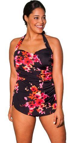 Aquabelle Women's Plus Size Poppies Sarong Front Swimsuit Orange 20 Aquabelle http://www.amazon.com/dp/B00S1P7XLA/ref=cm_sw_r_pi_dp_WWsEvb010HZTA