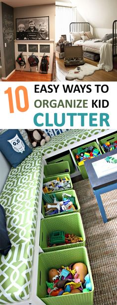 10 Easy Ways to Organize Kid Clutter