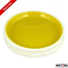 Nayasa Mf Round Full Plate 6 Pcs Set Yellow
