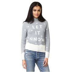 MINKPINK Let It Snow Intarsia Sweater (5,305 INR) ❤ liked on Polyvore featuring tops, sweaters, multi, polka dot top, long sleeve tops, dot top, dot sweater and intarsia sweaters