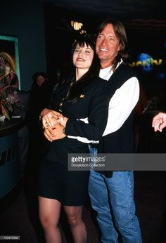 Actors Lucy Lawless and Kevin Sorbo attend an MCA Television promtional event for their TV shows 'Xena: Warrior Princess' and 'Hercules: The Legendary Journeys' in January 1996 in Las Vegas, Nevada.