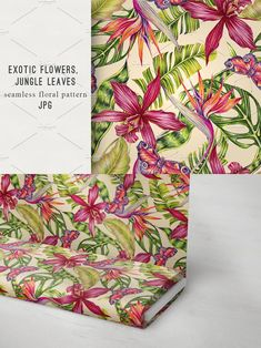 Exotic Flowers, Tropical Flowers, Birds Of Paradise Flower, Summer Patterns, Butterfly Design, Background Patterns, Orchids, Leaves, Wallpaper