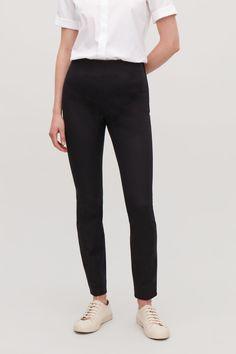 d03a561cc95 SLIM COTTON-TWILL TROUSERS - Black - Slim-fit trousers - COS Slim Fit