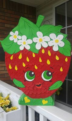 Check out this item in my Etsy shop https://www.etsy.com/listing/255095282/strawberry-kiss-shopkin-inspired-pinata