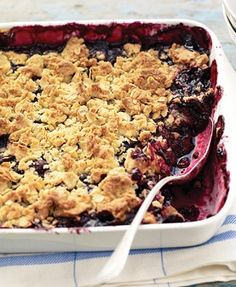 Blueberry Crumble with Vanilla-Oat Streusel | Not Your Mother's® Cookbook