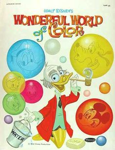 Disney Wonderful World of Color Coloring Book, Whitman 1961