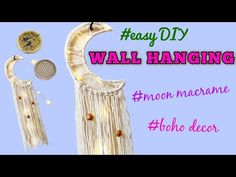 Bunny Hutch, Macrame Wall Hanging Patterns, Diy Hanging, Diy Wall, Dream Catcher, The Creator, Moon, Crafty, How To Make