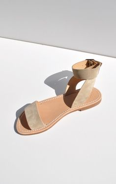 Handcrafted Suede Sandals :: La Botte Gardiane Mage