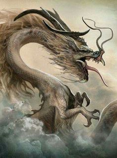 Chinese Dragon by Vincent-Covielloart on DeviantArt (detail)