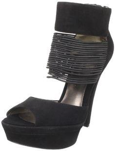 HK by Heidi Klum Women's Gillian Platform Sandal - Black