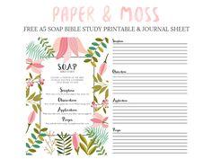 S.O.A.P Bible Study FREE A5 Filofax Printable - Paper & Moss