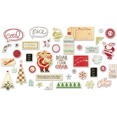 Fancy Pants Designs - Merry Little Christmas Collection - Ephemera Pack at Scrapbook.com