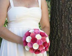 Large Bridal Bouquet - Build Your Own Bridal Bouquet - Handmade Paper Flower Bridal Bouquet. $74.00, via Etsy.