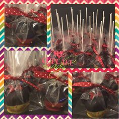 Mickey and Minnie cakepops