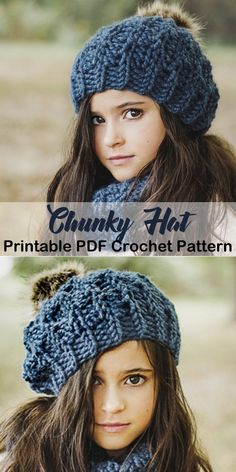 c89eca33c75 Make this chunky hat! winter hat crochet patterns - crochet pattern pdf -  amorecraftylife.