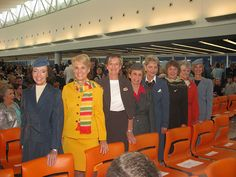 It's so cool to have all these TWA flight attendants — and so many reminders of the storied past of T5 — with us today.