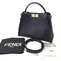 FENDI ピーカブー コピー ハンドバッグ ブラック 8BN290 81P F0KUR