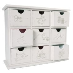 Pretty craft storage box - add molding/finished board to top and bottom of ikea unit and paint/decorate : )