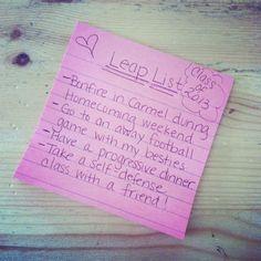 High School Seniors Leap List  Leap List Challenge  #smartgirls Michelleocampophoto.com