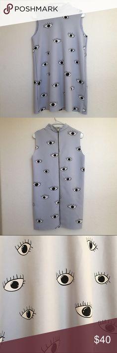 Zara evil eye swing dress Zips all the way down the back. High neckline. Reasonable offers welcomed! Zara Dresses Mini