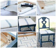 Milk Paint And Grain Sack Makeover