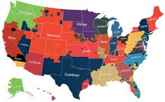 nfl by counties | County-By-County Map Of NFL Allegiance