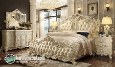 King Bedroom Set Description : The skillful hands of great Artisans Experts of a secular culture in the furniture art, gave to the bedroom collection a natural Furniture, Elegant Bedroom, Victorian Bedroom, Luxurious Bedrooms, King Bedroom Sets, Bedroom Set, Bed Styling, Bedroom Decor, Bedroom Vintage