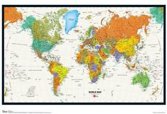 Httpmyconceptstorecontentimagesthumbs0000412world poster world map physical and political poster 13x19in gumiabroncs Choice Image
