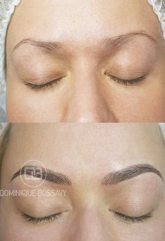 Eyebrows - Before/ After the Micro Color Infusion treatment of ...