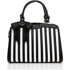 Jezzelle Black & White Stripes Handbag ($89) ❤ liked on Polyvore featuring bags, handbags, striped, black, stripe handbag, black white striped purse, man bag, purse bag and stripe purse