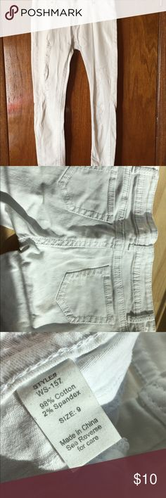 Spotted while shopping on Poshmark: White Ripped Jeans! #poshmark #fashion #shopping #style #Wet Seal #Denim