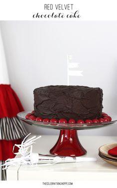 Red Velvet Chocolate Cake | Kim Byers TheCelebrationShoppe.com