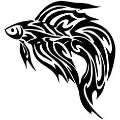 Photo by StickerslugDecals Fish Silhouette, Silhouette Images, Tribal Tattoo Designs, Tribal Tattoos, Betta Tattoo, Beta Fish, Types Of Fish, Future Tattoos, Goldfish