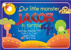 Little Monster No1 Digital Party Invitation by Odesigns on Etsy, €9.00