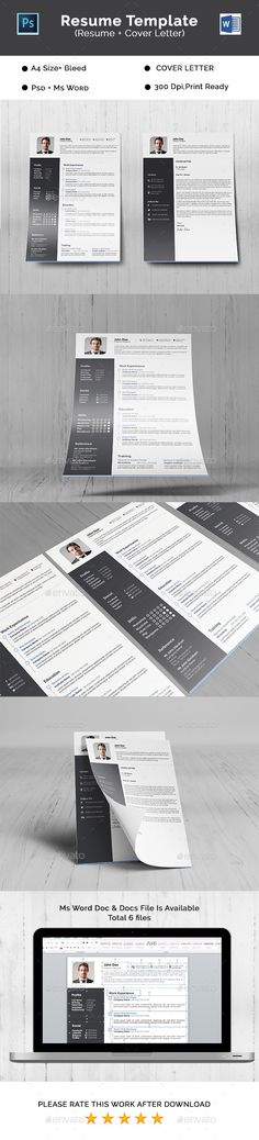 free psd resume and cover letter templates freebies material style - letter cover for resume