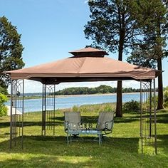 10 X 12 Patio Gazebo Steel Furniture Structure With Mosquito Netting Party  Event #sunjoy