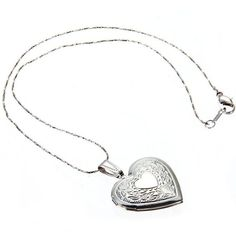 New Arrival Romantic Bronze Heart Pendant Photo Locket Open Chain Necklace Locket Necklace, Bronze, Romantic, Chain, Pendant, Heart Necklaces, Silver, Accessories, Jewelry
