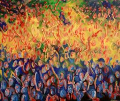 Large Original Acrylic Painting 20 x 24 The Concert by EtsyLoft