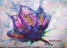 """""""Fleur de nuit"""", 2018 #paintingwithwax #encaustic #instaartwork"""