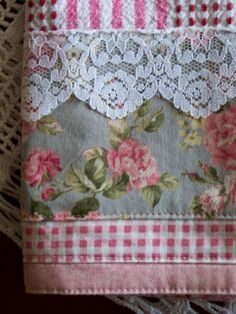 https://flic.kr/p/8aJEJz | Romantic Victorian cottage tea towel - unique and lovely. | Decorative tea towel. Splendid Victorian lacey look tea towel. Decorated with a grey and pink floral fabric. Trimmed with lace and bordered with some pink and white gingham. I adore it..................Please tell me if you like it  too,I love to recieve feedback on my work. See my profile for Store link.