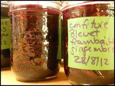 Confiture bleuet framboise gingembre