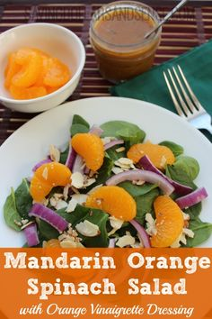 This mandarin orange spinach salad is delicious!  It's part of our garden veggies series this summer!