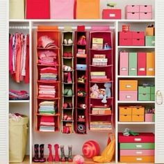 Very organised closet